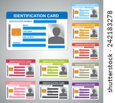 color identification card id... | Shutterstock .eps vector #242183278