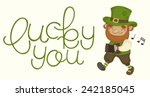 card for st. patrick's day with ... | Shutterstock .eps vector #242185045