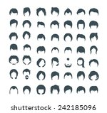 hair style icons | Shutterstock .eps vector #242185096