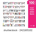 clothes icon set | Shutterstock .eps vector #242185102