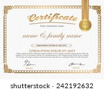 vector illustration of gold... | Shutterstock .eps vector #242192632