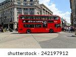 london   july 1  2014  a london ... | Shutterstock . vector #242197912
