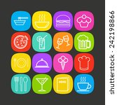 set of simple icons for bar ... | Shutterstock .eps vector #242198866