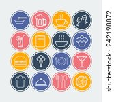 set of simple icons for bar ... | Shutterstock .eps vector #242198872
