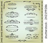 calligraphic design elements... | Shutterstock .eps vector #242199286