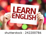 learn english card with... | Shutterstock . vector #242200786