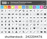 set of 100  universal premium... | Shutterstock .eps vector #242204476