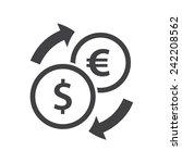 exchange icon  flat design  | Shutterstock .eps vector #242208562