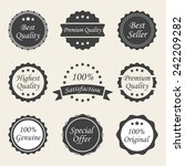 different labels | Shutterstock .eps vector #242209282