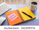good life good work word on... | Shutterstock . vector #242209576