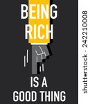 words being rich is a good thing | Shutterstock .eps vector #242210008