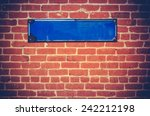 A Blank Blue Sign For Your Tex...
