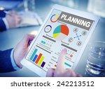 planning ideas data office... | Shutterstock . vector #242213512