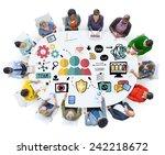 team support care help trust... | Shutterstock . vector #242218672
