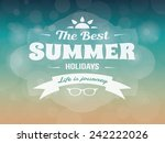 summer typography vector design ... | Shutterstock .eps vector #242222026