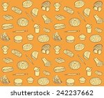 vector pattern of seamless... | Shutterstock .eps vector #242237662
