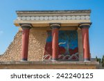the minoan palace of knossos in ... | Shutterstock . vector #242240125