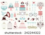 vector collection of vintage... | Shutterstock .eps vector #242244322