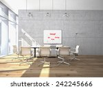 conference room interior with a ... | Shutterstock . vector #242245666