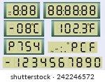 electronic scoreboard clock and ...   Shutterstock .eps vector #242246572
