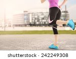 woman and sport  | Shutterstock . vector #242249308