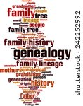 genealogy word cloud concept.... | Shutterstock .eps vector #242252992