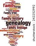 genealogy word cloud concept.... | Shutterstock .eps vector #242252992