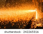 Stock photo industry steel tending the fire spread from the open shell slab 242265316