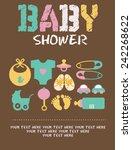 baby shower set | Shutterstock .eps vector #242268622