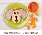 funny sandwich for a child | Shutterstock . vector #242270662