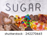 food containing sugar. too much ... | Shutterstock . vector #242270665