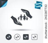 family life insurance sign icon.... | Shutterstock .eps vector #242287732