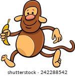 cartoon illustration of funny... | Shutterstock . vector #242288542