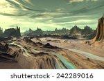 Alien Planet   3d Rendered...