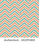 pastel colored seamless chevron ... | Shutterstock .eps vector #242291842