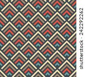 seamless multicolored geometric ... | Shutterstock .eps vector #242292262