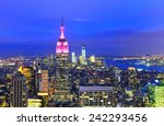 view of new york city at... | Shutterstock . vector #242293456