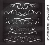 calligraphic design elements... | Shutterstock .eps vector #242296045
