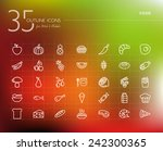 healthy food line icons set for ...