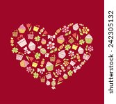 valentine's day background with ... | Shutterstock .eps vector #242305132