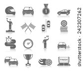 auto sport black icons set with ... | Shutterstock .eps vector #242307262