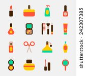 cosmetics color icons on white... | Shutterstock .eps vector #242307385