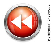 rewind button icon | Shutterstock .eps vector #242309272
