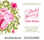 bridal shower invitation with... | Shutterstock .eps vector #242316082