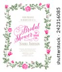 bridal shower invitation with... | Shutterstock .eps vector #242316085
