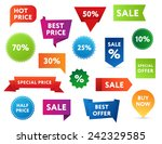 set of colorful sale banners in ... | Shutterstock .eps vector #242329585