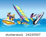 water sports | Shutterstock .eps vector #24235507