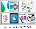 set of flyer design  web... | Shutterstock .eps vector #242358436