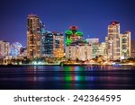 Colorful Skyline San Diego At...