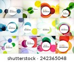 set of circle abstract...   Shutterstock .eps vector #242365048